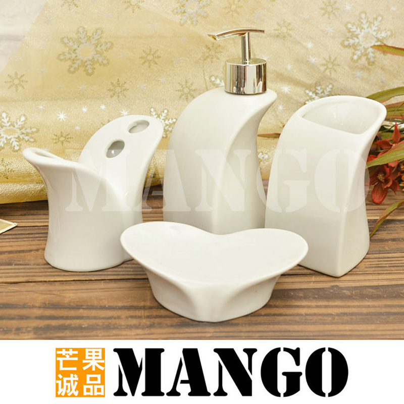 Bone china bathroom set piece set ceramic fashion bathroom for Fashion bathroom set
