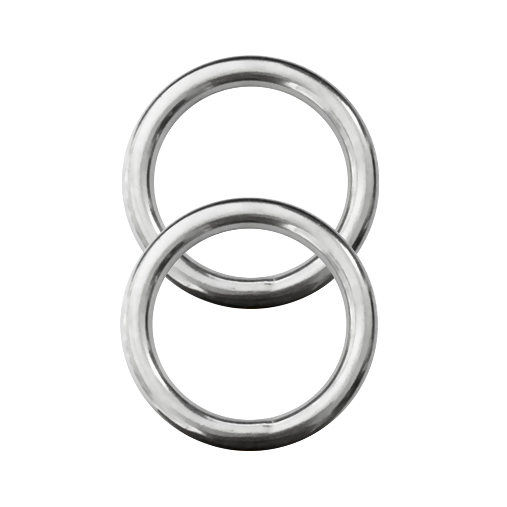 35mm Stainless Steel O Rings Un-Welded Round Buckles DIY Webbing Leather Craft