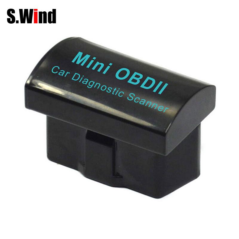 Мини-автомобиля диагностических инструментов ELM327 V2.1 OBD2 II Bluetooth авто диагностический интерфейс сканера автомобильный комплект черный