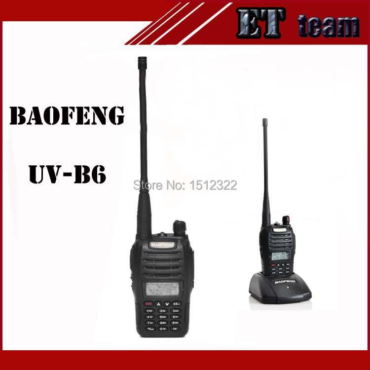 Walkie Talkie Baofeng uv-b6 two way radio Dual Band VHF 136-174 400-470MHz UHF 5W hf transceiver For Walkie Talkie Baofeng UV B6(China (Mainland))