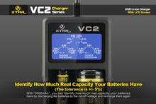 New version XTAR VC2 LCD Display charger for 10440/16340/14500/18650/18700/26650/22650/Other battery Charging For flashlight(China (Mainland))