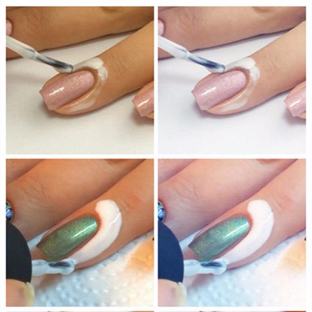 Лак для ногтей вокруг ногтя