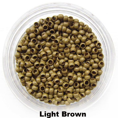 1bottle 2.5mm Nano copper ring nano beads tips the smallest micro rings used for the nano rings hair  Light Brown 1000pcs/lot(China (Mainland))