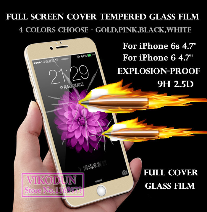 for iPhone 6s i6 i6s glass film full cover Preminum tempered glass font b screen b