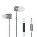 Cellphone Earphone Metal Alloy Super Bass In Ear Headset with MIC for iPhone 6s Samsung S6
