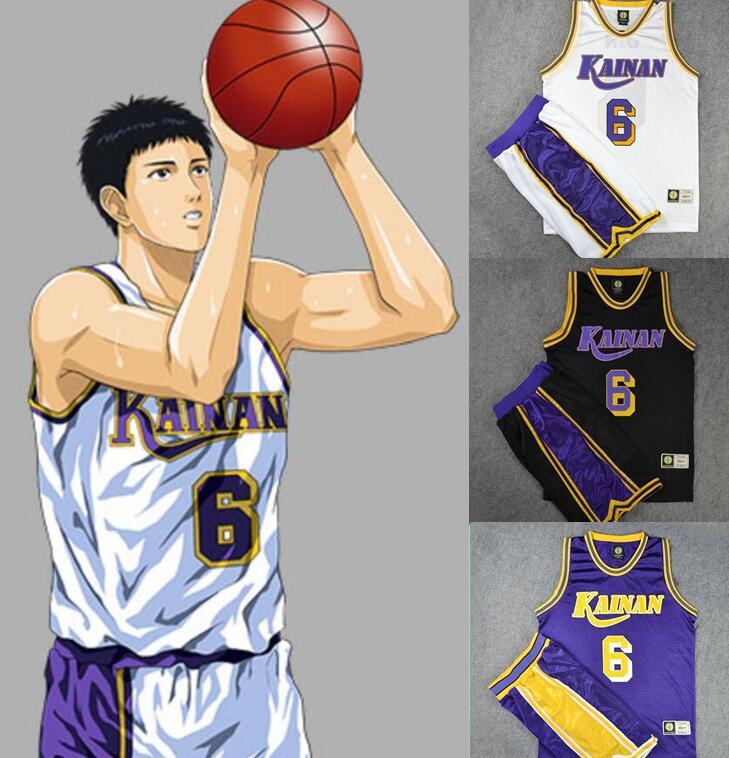 Anime SLAM DUNK Kainan Basketball Jersey Cosplay Unmber custom made(China (Mainland))