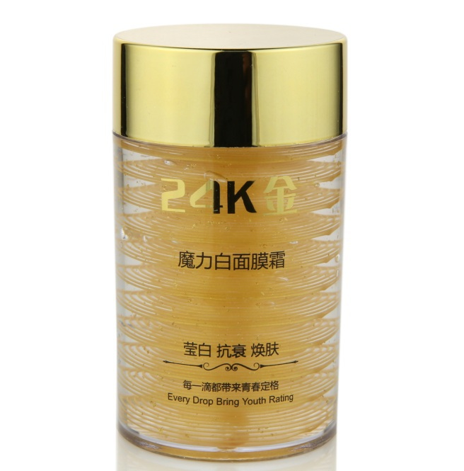 24K gold anti wrinkle sleep facial mask face care acne treatment whitening cream skin care face lifting firming moisturizing(China (Mainland))
