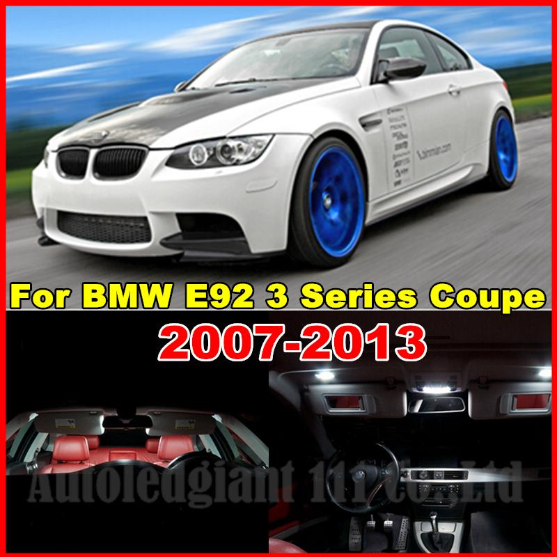 18x Canbus White Error Car LED Interior Light Package Kit BMW E92 3 Series Coupe 2006 2007 2008 2009 2010 2011 2012 2013  -  PJ Auto Tech Lighting store