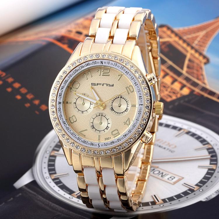 Casual Watch Unisex Quartz watch men women Analog wristwatches Sports Watches Rose Gold watches SF01 - Di Da store