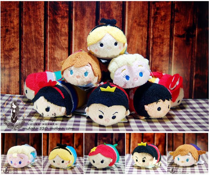 7pcs/lot 3.5 in Cute Tsum Tsum Dolls Princess Elsa Anna Snow white Prince Plush Toys Screen Cleaner for iPhone Plush Pendant(China (Mainland))