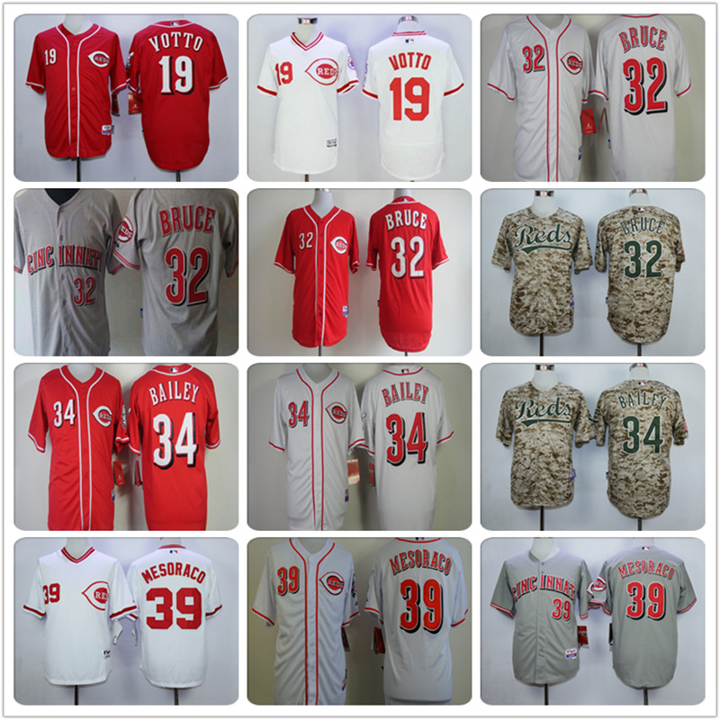 Cheap Cool Jersey Mens#19 Joey votto #14 Pete rose Embroidery Logos Cincinnatis Baseball Jersey 100% stitched(China (Mainland))