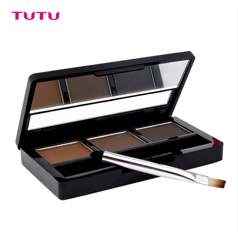 Eye Shadow Brow Makeup Waterproof Eyebrow Cake Powder Palette Cosmetics Matte Eyeshadow Make Kit Set Brush - FashonLine&Beautiful&Sexy @GaungZhou store