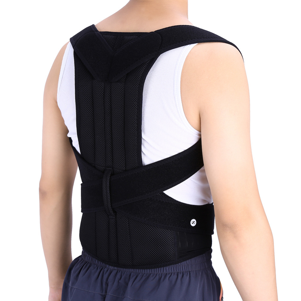 Adjustable Posture Back Support Corrector Brace Lumbar Brace Shoulder Band Belt Health Care W97(China (Mainland))