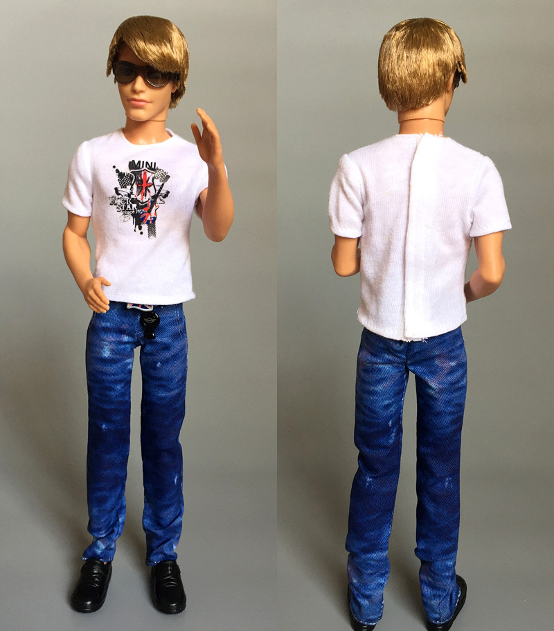 Doll + clothes/set, Original Limited Edition Ken Doll with 5 joint moveable /for Barbie Boy Bridegroom Doll Gift Baby Toy