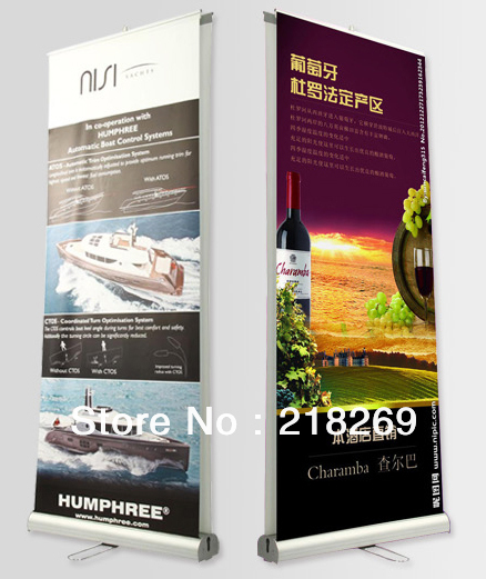 5pcs double sided roll up banners, Two Sides pull up banner Stand (free shipping to Australia)(China (Mainland))