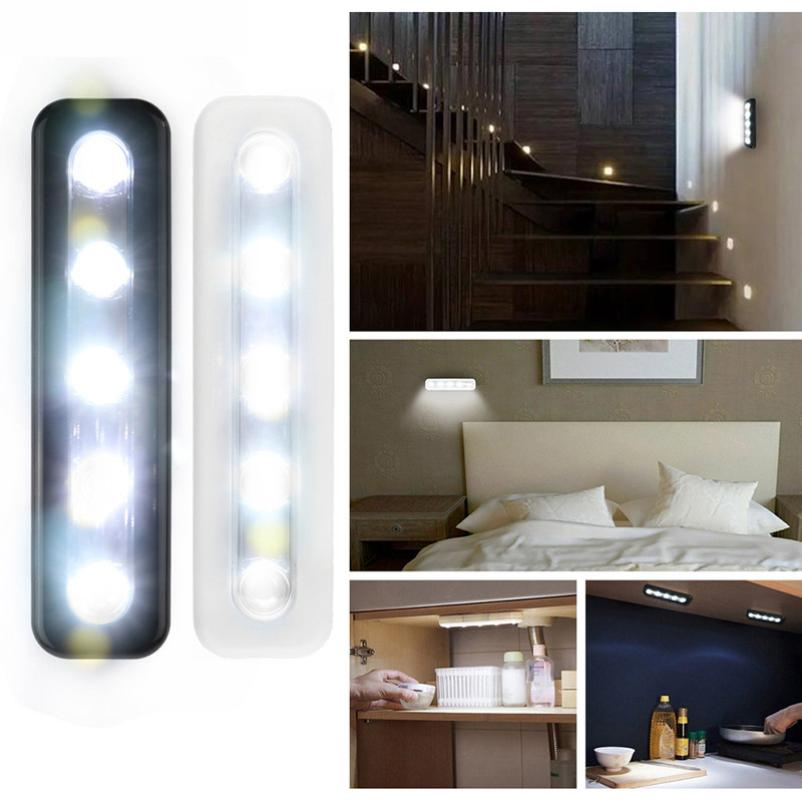 MA 14 Hot Selling Fast Shipping LED lighting  5X Bright Battery Operated Bulb Stick On Push On Strip Kitchen Shed Lights