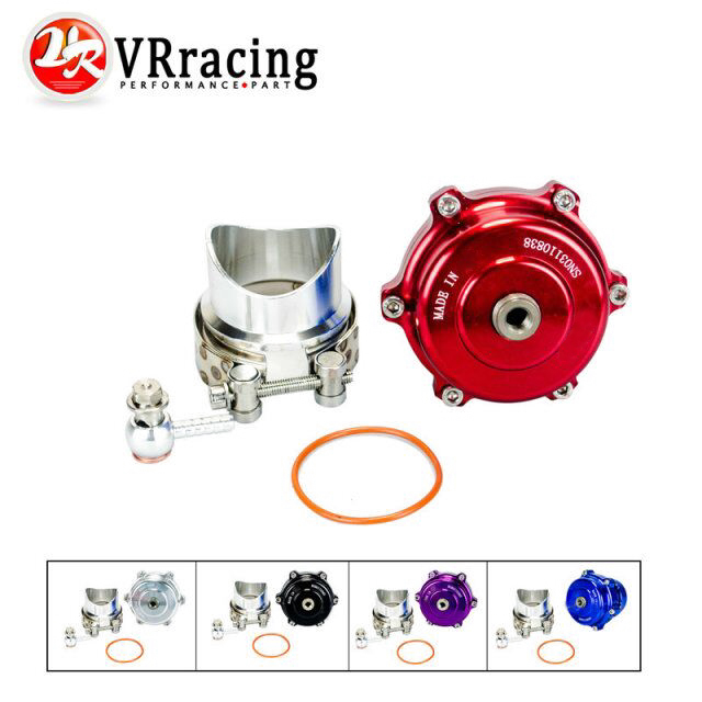 VR RACING- New style 50mm Q Blow Off Valve BOV with v-band Flange High Performance with logo VR5765