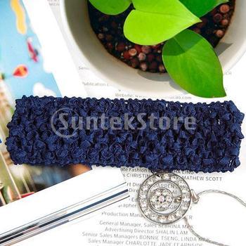 Free Shipping 1.5 Inch Elastic Baby Toddler Girls Crochet Headband - Navy Blue