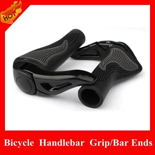2015 Rubber Mountain Bike Bicycle Handlebar Lockable Grips, MTB Ergonomic Ergon Bar Ends White/Black, Parts - HiCoo Global Trade Co., Ltd store
