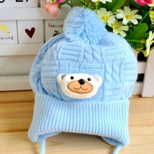 Autumn Winter Warm Cartoon Baby Beanie Lovely Bear Infant Toddlers Cap Hat 0-18 months(China (Mainland))