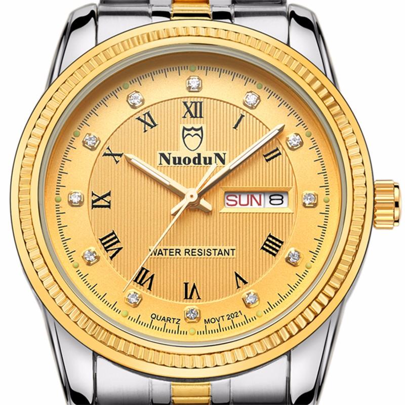 Новый Кварцевый Мода Наручные Часы Женщины 40 мм Полный Календарь Авто Дата Мужчины Часы Из Нержавеющей Стали Ремешок Мужские Часы Heren Horloge
