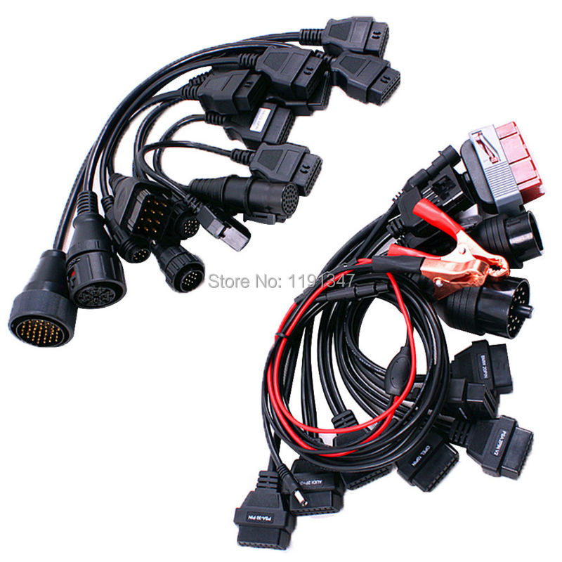 Hot Selling!! Full Set 8pcs Car Cables and Full Set 8pcs Truck Cables Diagnostic Interface for Tcs Cdp Pro Plus Ds150e HK Post