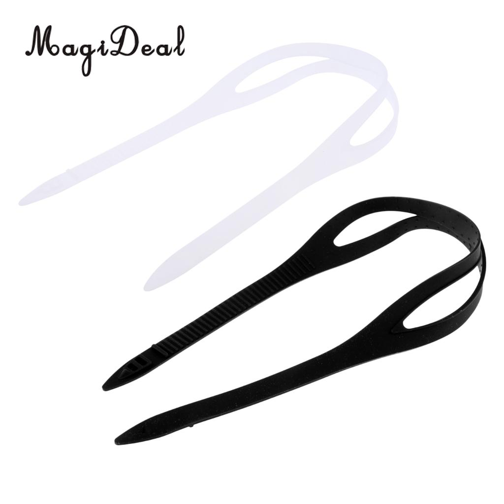 MagiDeal 2 Pieces Universal Swimming Goggles Silicone Strap Replacement Accessories