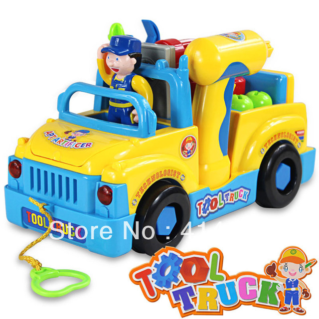 Excellent quality exported toy  music tool truck music toy classic music toy Multi-function disassembling tool vehicle