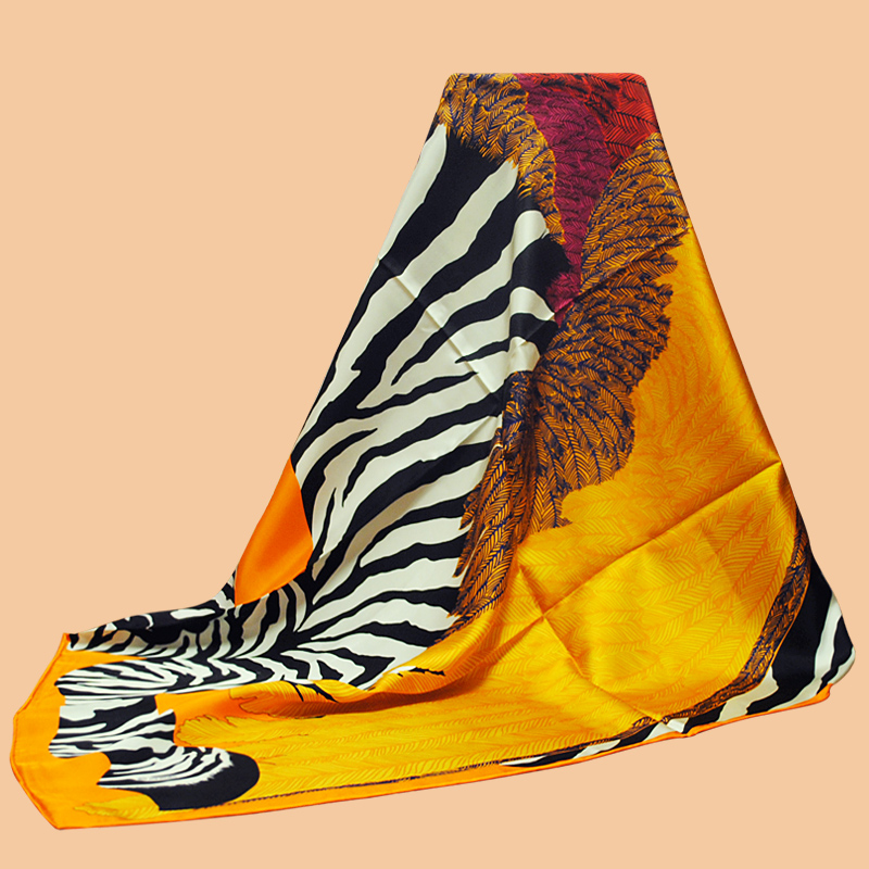 "Da Hua Collectibles scarves brand ""Zebra Pegasus"" 90 silk scarf 100% silk twill scarves shawl PRINTED(China (Mainland))"