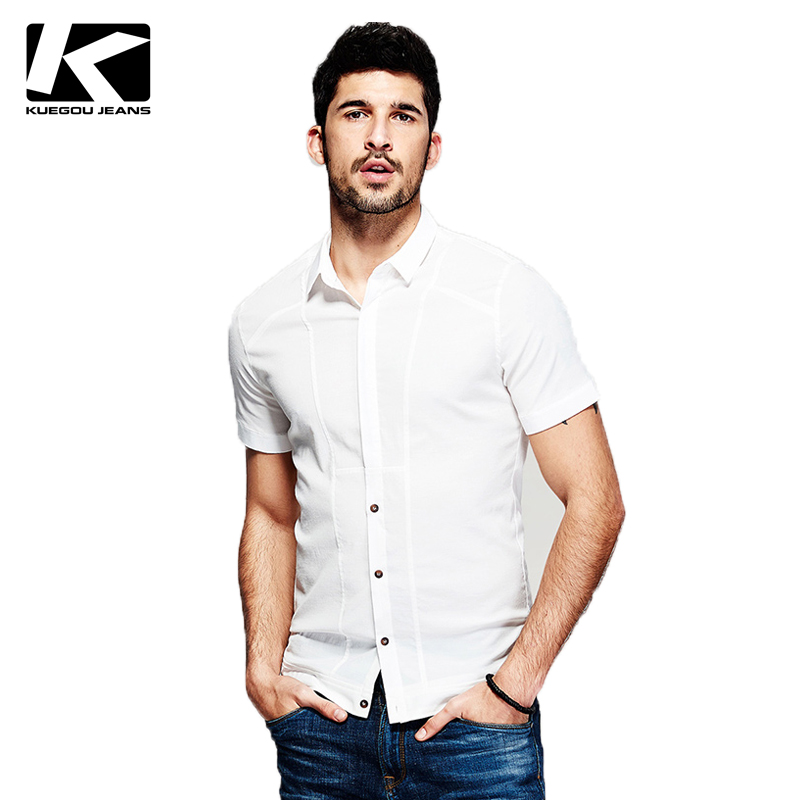 Kuegou Hot Sale Shirts Men 39 S Short Sleeve Shirt Men Top
