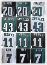 SexeMara Best quality jersey,Men's11 Carson Wentz 7 Sam Bradford 20 Brian Dawkins 43 Darren Sproles elite jerseys,White,Green,Bl(China (Mainland))