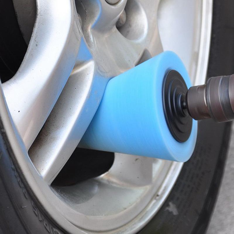 AUTOSON 1PCS Sponge Cone Metal Polishing Foam Pads For Wheels Buffing Car Wheel Hub Care Buffing Tool Car Cleaning Tool(China (Mainland))