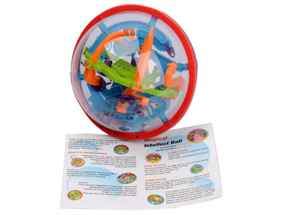 Free Shipping Amazing Balance Toy IQ Trainer Game for Kids Patience Trainer Children Magical Intellect Marble Puzzle Ball(China (Mainland))