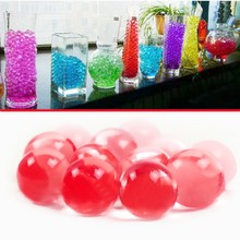 1 Bag  New Water Aqua Crystal Soil Wedding Gel Ball Beads Vase Centerpiece Crystal Soil Water Beads Bio Gel Ball(China (Mainland))