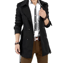 DSGS 2016 Autumn Trench Coat Men Double Breasted Trench Coat Men Outerwear Casual Coat Men's Jacket Windbreaker Mens Trench Coat