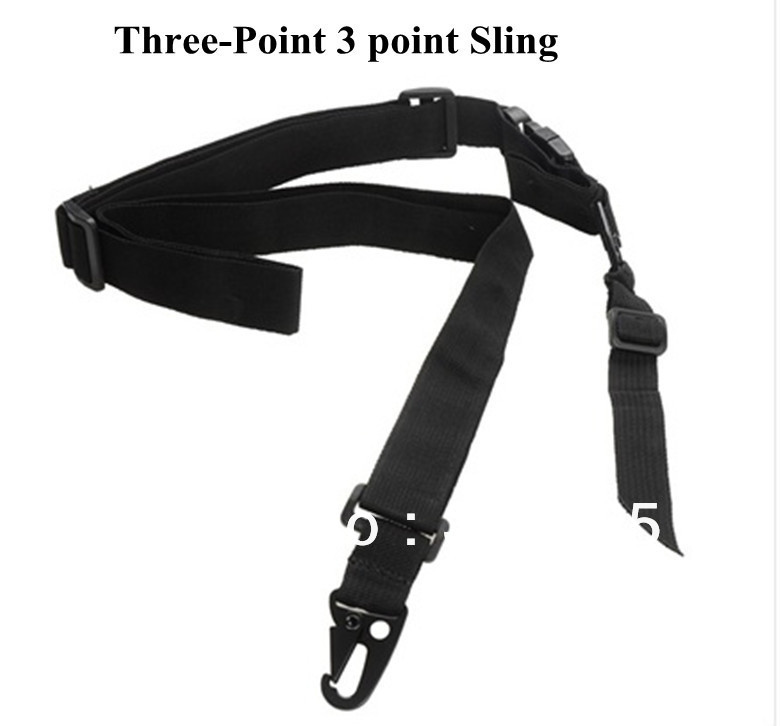 Tactical Three-Point 3 point Military Rifle Gun Sling Strap Black , - Outdoor's Equipment store