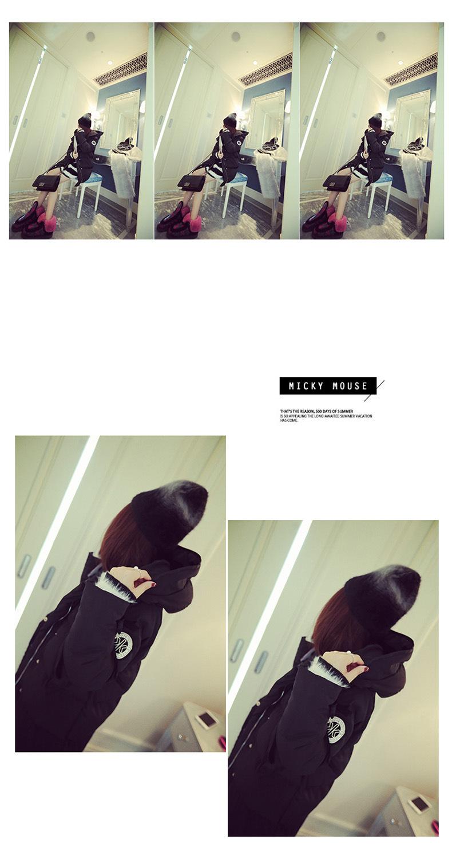 Скидки на Зима 2016 Корейский стиль вниз хлопок женский длинный участок теплой одежды толстый ватник женщин parkas 7322