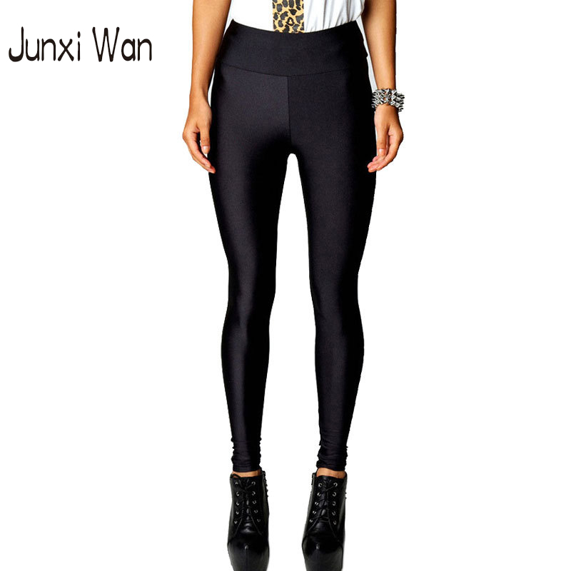 Plus Size Women Sport Leggings High Waist Stretch Skinny Shiny Sport Pants Slim Fitness Jeggings Gym Clothes WA0039(China (Mainland))