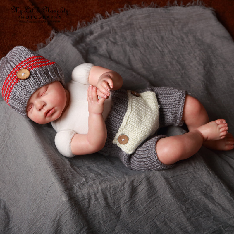 Knitting Patterns For Photography Props : Aliexpress buy baby newborn month crochet knit