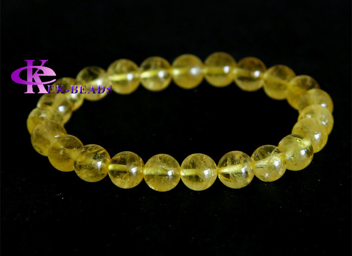 High Quality Clear Bracelet Yellow Datolite Genuine Danburite Finished Stretch Beaded Bracelet Round beads 8mm 03009<br><br>Aliexpress
