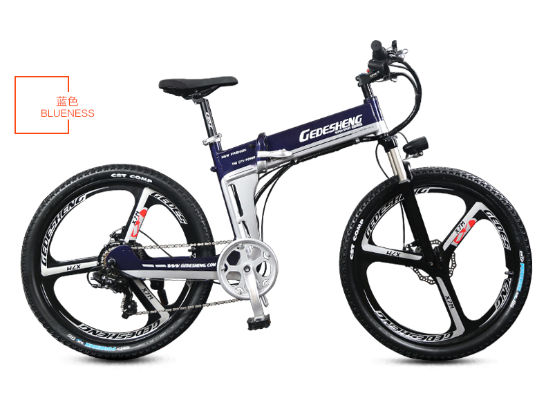 26 inch folding electric mountain bike 48v power lithium