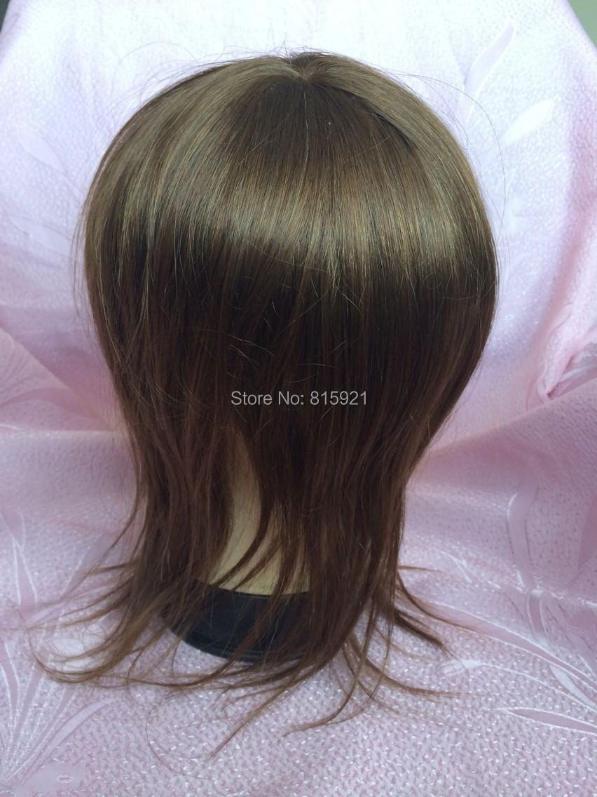 5A Grade Virgin Human Hair Toupee 10 inches Mono Toupees Women - EJS Shop store
