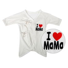 """""""I love Mama/Papa"""" Printed 0-6Months Toddler Baby Boys Girls Cotton Romper Playsuit Outfits Clothing KJ2(China (Mainland))"""
