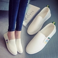 HOT SALES 2017 Summer New Fashion Student Shoes A Pedal Lazy Shoes Tide Loafers Laides White