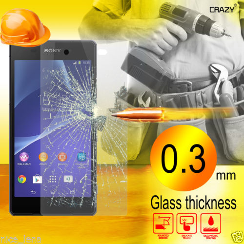 Super Thin Hardness Screen Protector Film For Sony Xperia Z1 Mini Compa nano anti-burst Tempered Glass 9H 0.3 mm 2.5D arc edge(China (Mainland))