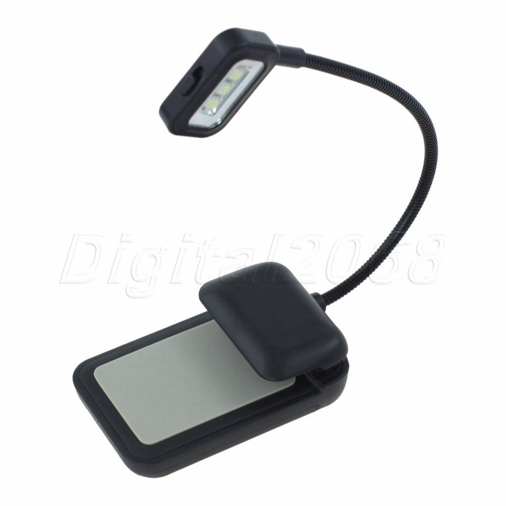 Best Seling Black 3 LED E-reader Clip Reading Book Light Lamp with Flexible Arm For KINDLE NOOK EBook Reader<br><br>Aliexpress