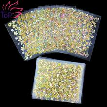 24Pcs Lot Beauty Floral Design Bronzing Flowers Stamping Stickers For Nails Foil Transfer 3D Nail Art