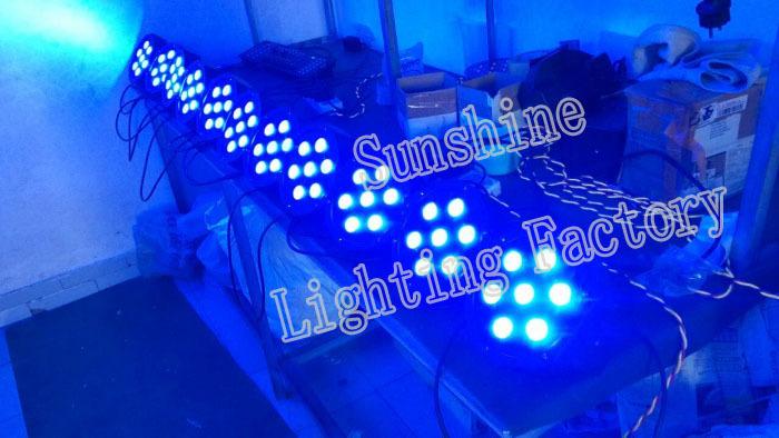 7x12w RGBW 4 1 DMX 512 Stage Lights Business Led Flat Par High Power Light Professional Party KTV Disco DJ - Guangzhou Sunshine Lighting Equipment Factory store
