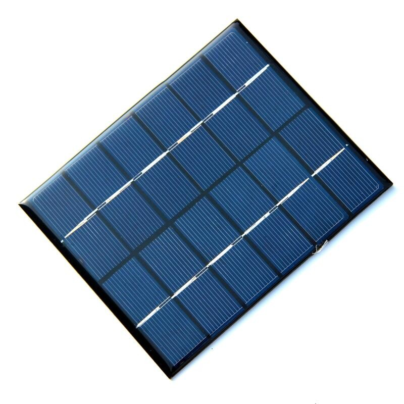 Wholesale! 2W 6V 330mA Mini Polycrystalline Solar Panel 2 Watt 6Vdc Small Resin Solar Cell Solar Module 24pcs/lot Free shipping(China (Mainland))