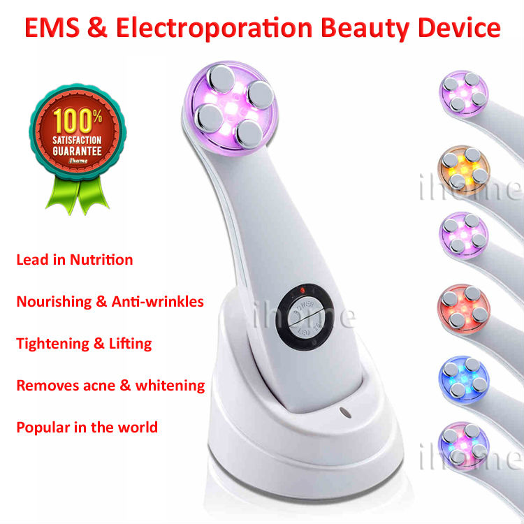 Hot Selling EMS & Electroporation Beauty Device, Anti-aging Skin care, LED Whitening, Remove Blackheads Acne, hot Japan - Shenzhen ihome's store Better